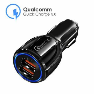 2 Port Q.C 3.0 USB Car Charger