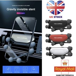 For Mobile Phone Universal Gravity Car Phone Holder Air Vent Mount Stand Cradle