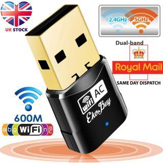 EkoBuy AC600 Dual Band Mini Wireless Usb Adapter Dongle Wifi 802.11 ABGN AC 5GHz