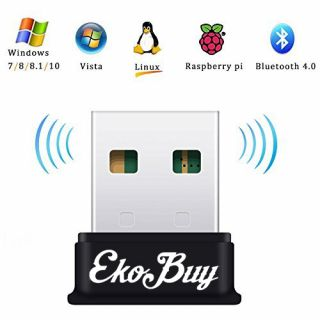 EkoBuy USB Bluetooth 4.0 Broadcom Adapter Dongle PC Plug and Play Windows 10 8 7
