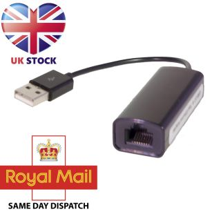 USB to Ethernet Lan Adapter Compatible with Windows Linux Mac OS New Retail Box