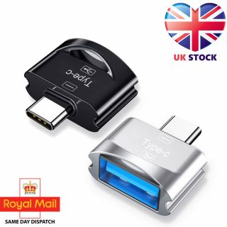 USB 3.1 Type C Male to USB A Female OTG Adapter Converter with Hang Hole